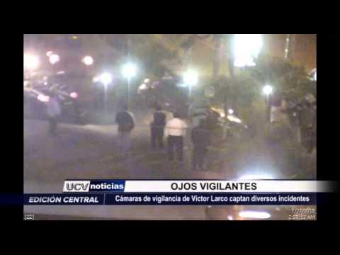 Cámaras captan incidentes en Víctor Larco
