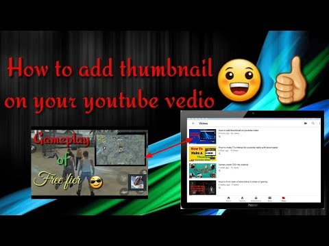 How to add thumbnail on youtube video