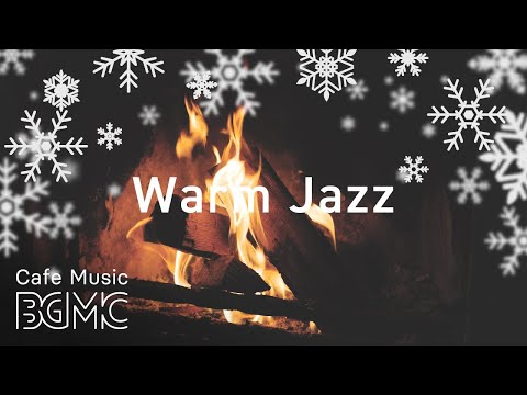 🎄⛄️ Christmas Songs Winter Jazz - Relaxing Slow Jazz  with Fireplace