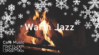 🎄⛄️ Christmas Songs Winter Jazz - Relaxing Slow Jazz Music with Fireplace