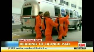 STS-135 Launch (Final Space Shuttle Mission) CNN Live Coverage Part 3