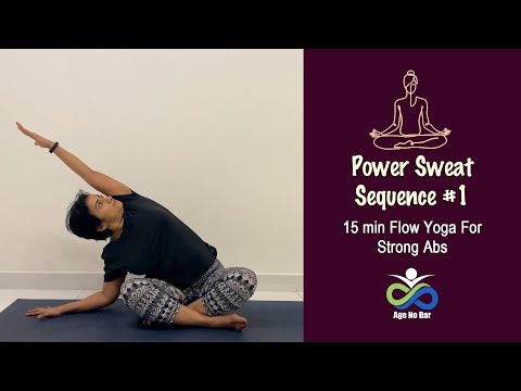 Flow Yoga For Abs | Power Sweat For Abs | 15 Min Yoga Sequence