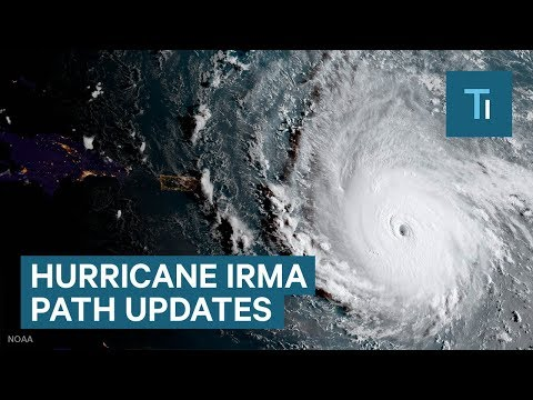 Here's Hurricane Irma's projected path as it heads toward Florida