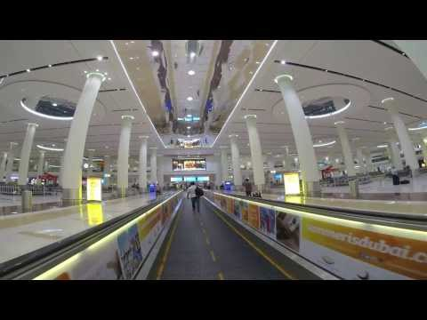 Dubai International Airport (DXB) Arrival: Landing - Immigration - Baggage Claim (GoPro Hero 3)