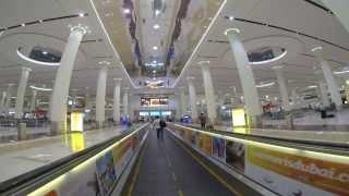 Dubai International Airport (DXB) Arrival: Landing - Immigration - Baggage Claim (GoPro Hero 3)