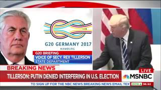 Tillerson on Russia meeting