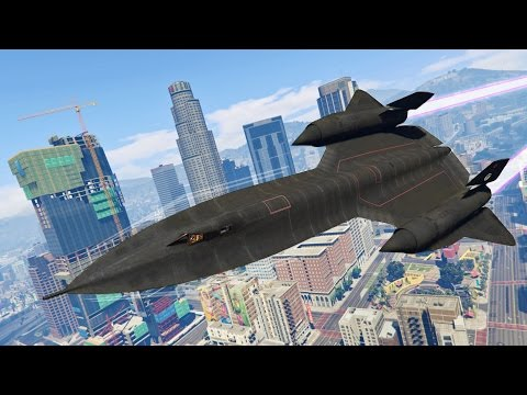 GTA 5 Real Life Military Mod - FASTEST JET IN THE WORLD!! GTA 5 Blackbird Mod! (GTA 5 Mods Gameplay)