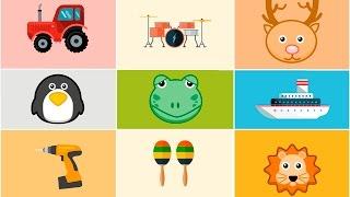 Звуки для детей. Голоса животных. Звуки инструментов. Звуки машин.