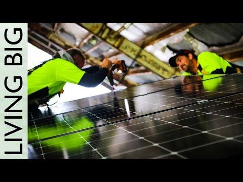 Installing Solar Panels on the Tiny House