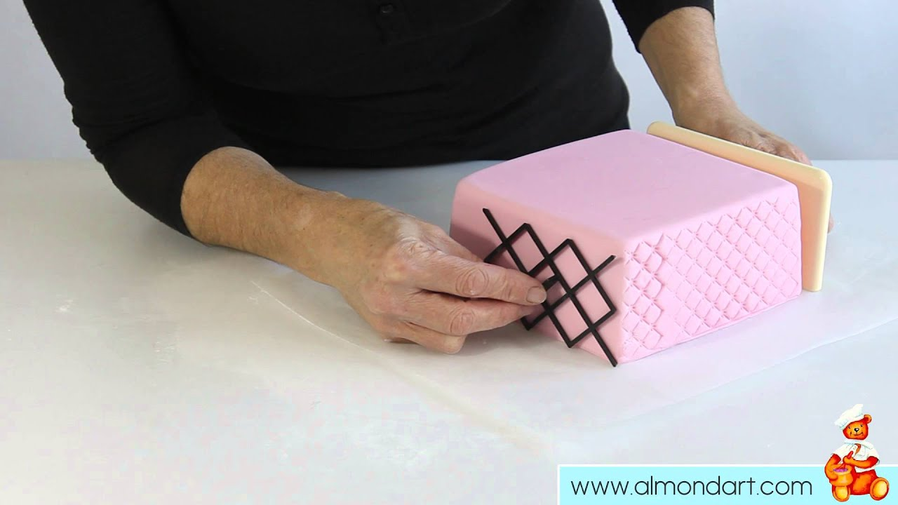 How To Use Side Design Embossers To Decorate Your Cake - YouTube : quilting embosser - Adamdwight.com
