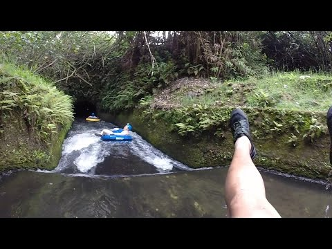 Kauai, Hawaii Backcountry Tubing Adventure through Irrigation Canals and Tunnels!