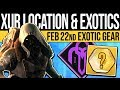 Destiny 2 | XUR LOCATION & EXOTIC LOOT! DLC Update, Inventory & Exotic Rolls, 22nd Feb 2019! Mp3