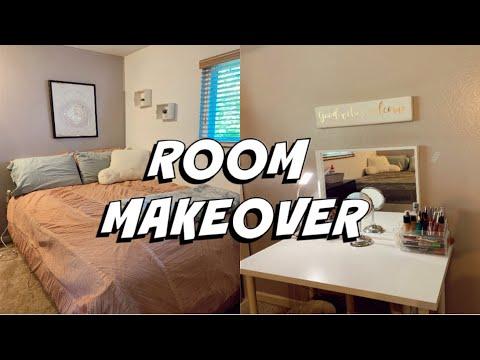 BEDROOM MAKEOVEREDOING MY ROOM UNDER $100! | + Room Tour!