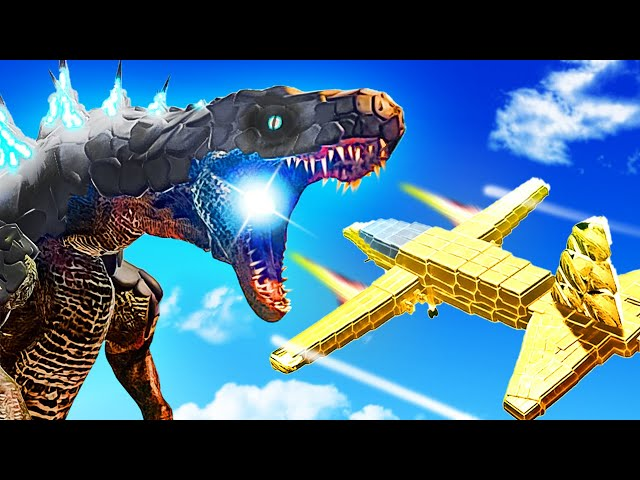 Battling GODZILLA With New FIGHTER JET PLANE Unit - Animal Revolt Battle Simulator
