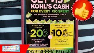🛍  Super Compra De *kohl's* Durante Cyber Monday!