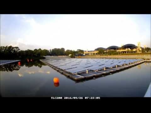 99.8kWp Floating PV System at Tengeh Reservoir Singapore, EPC : REC Solar Pte. Ltd.