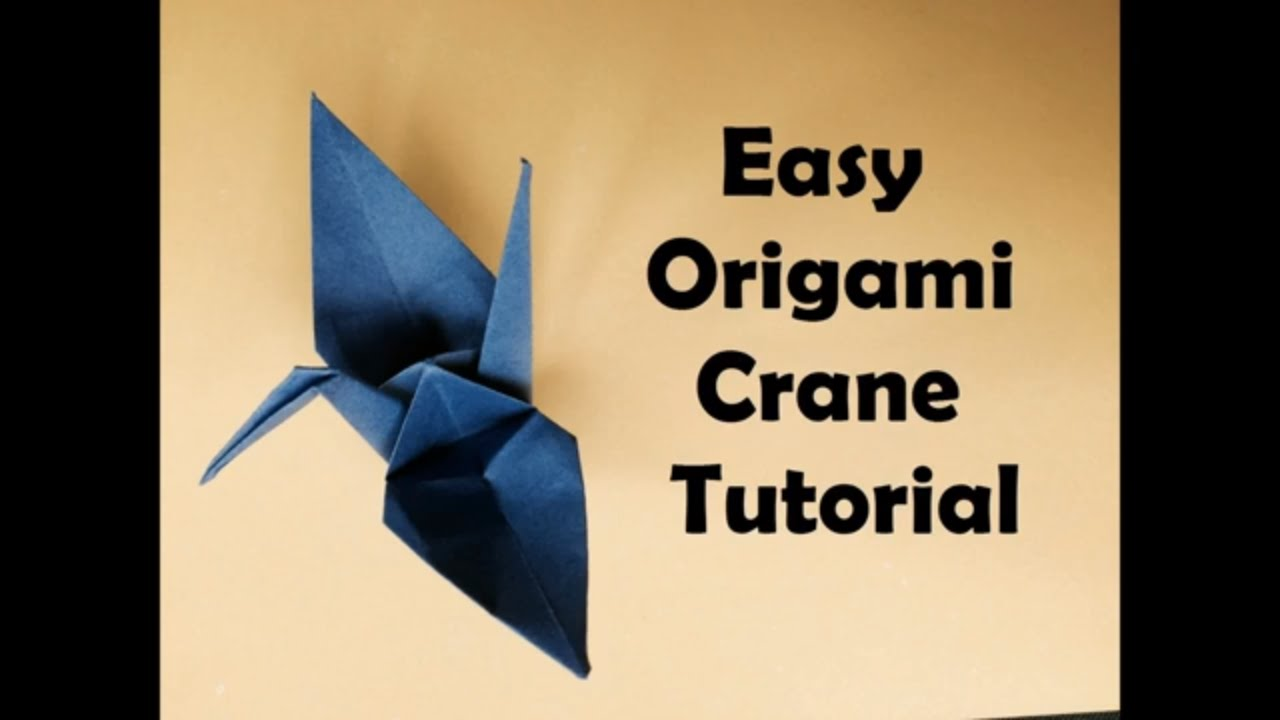 How to make origami crane tutorial easy origami for beginners how to make origami crane tutorial easy origami for beginners easy origami animals diy jeuxipadfo Gallery