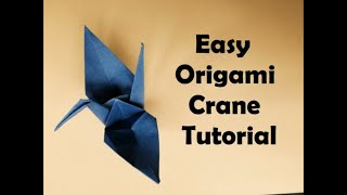 How To Make Origami Crane Tutorial - Easy Origami for Beginners - Easy Origami Animals - DIY