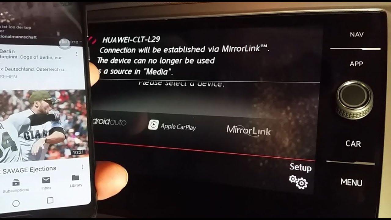 How-to Huawei MirrorLink 1:1 mirroring