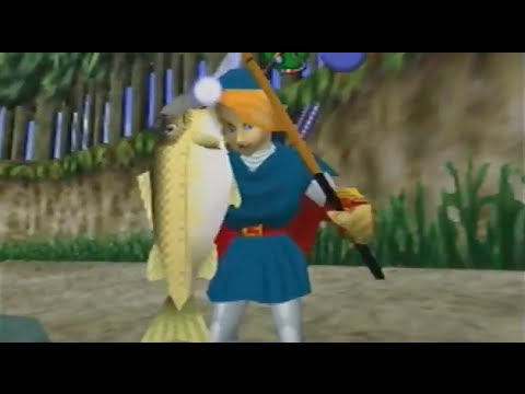 Ocarina of time tips and tricks fishing pond tips zelda's palace.