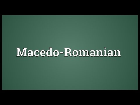 Macedo-Romanian Meaning