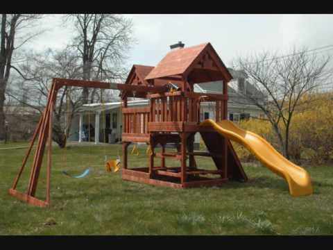 2009 Costco Rainbow Swing Set Installation All American Double