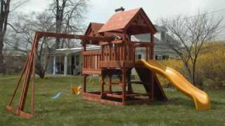 2009 Costco Rainbow Swing Set Installation- All American Double Decker - Installed By Dan