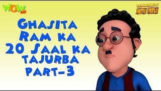 Ghasitaram ka 20 Saal ka tajurba - Motu Patlu Compilation - Part 3 As seen on Nickelodeon