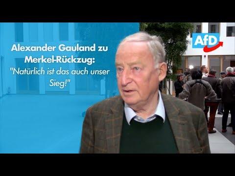 """Alexander Gauland zu Merkel-Rücktritt: """"Natürlich ist das auch unser Sieg!"""""""