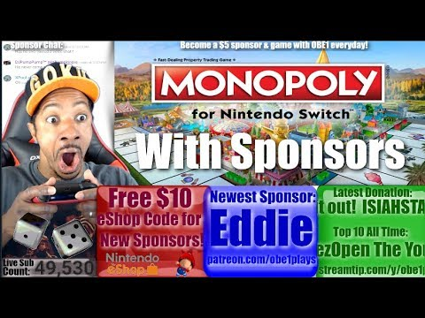 Monopoly Nintendo Switch With Sponsors!