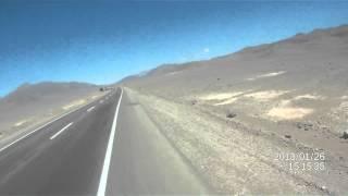 Llegada en Bicicleta a la Mano del Desierto