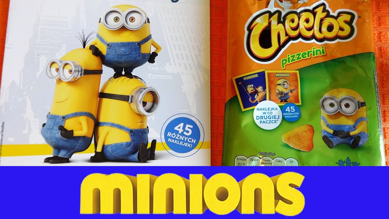 Sticker unboxing - 2015 Minions Snacks Surprise Promo Packs European