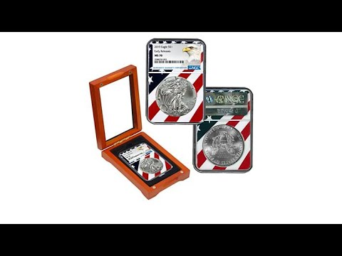 """2019 MS70 NGC /""""Early Release/"""" Silver Eagle Dollar Coin"""