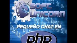 SoftUnicorn - Pequeño Chat con PHP y AJAX