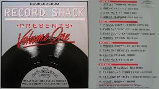 RECORD SHACK PRESENTS VOLUME 1 (1984) 2LP Non-Stop Mix Hi-NRG Disco Dance Eurobeat 80s Hits