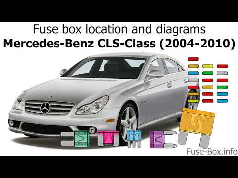 fuse box location and diagrams mercedes benz cls class (2004 2010 Mercedes ML Fuse Box Location