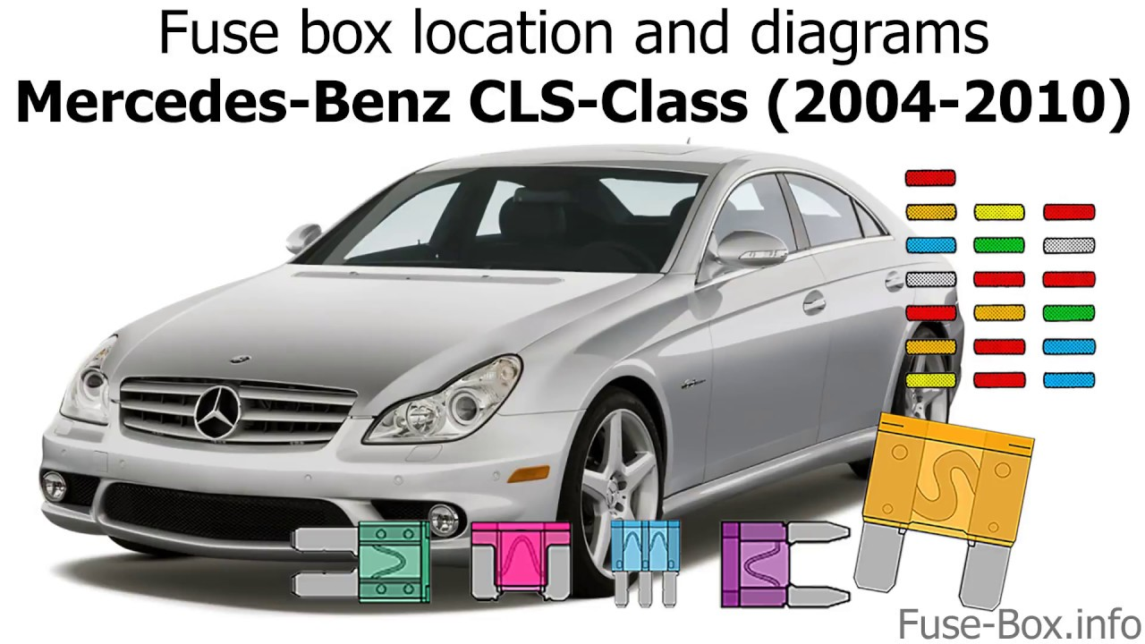 fuse box location and diagrams mercedes benz cls class 2004 2010 mercedes vito 2004 fuse box diagram mercedes fuse box 2004 [ 1280 x 720 Pixel ]