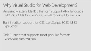 Modern front-end web development in Visual Studio
