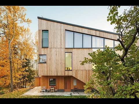 Fachadas de casa de madera moderna construcci n youtube for Casas de madera modernas