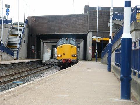 Class 37's 37605 & 37611 working 0M60 1323 Seaton o t British Energy to Sellafield B N F (13-4-2015)