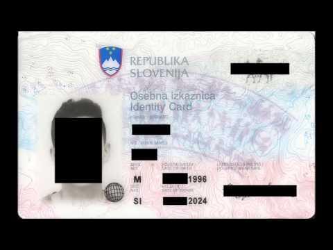 Slovenian Personal ID card