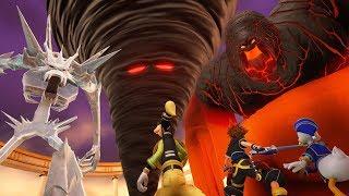 Kingdom Hearts 3: Three Titans (Ice Titan, Fire Titan, Wind Titan) Boss Fight #3 (English)