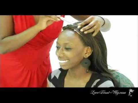 How To Apply Lace Front Wigs With Tape Youtube