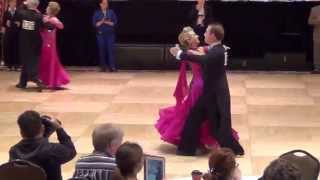Matt and Ellen Pansing at the Gumbo Ballroom Dance Competition 2015