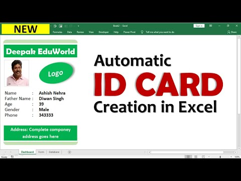 Excel 👉  create automatic Employee id cards in excel Hindi 👍 ID Cards बनाना सीख लो 👌बहुत आसान है