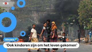 Twaalf landen roepen op: 'Geweld in Myanmar moet stoppen'