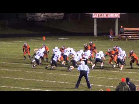 Conor Bradley #22 Newaygo High School (White & Black) vs Reed City 11/2/2012