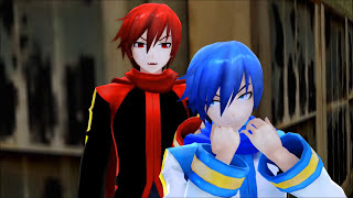 Repeat youtube video 【MMD】Akaito x Kaito - For Your Entertainment (Yaoi warning)