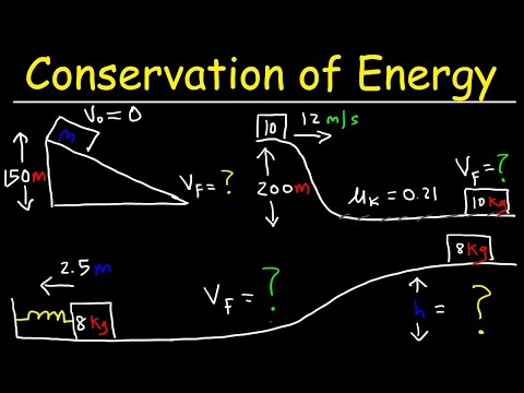 Conservation of Energy Physics Problems