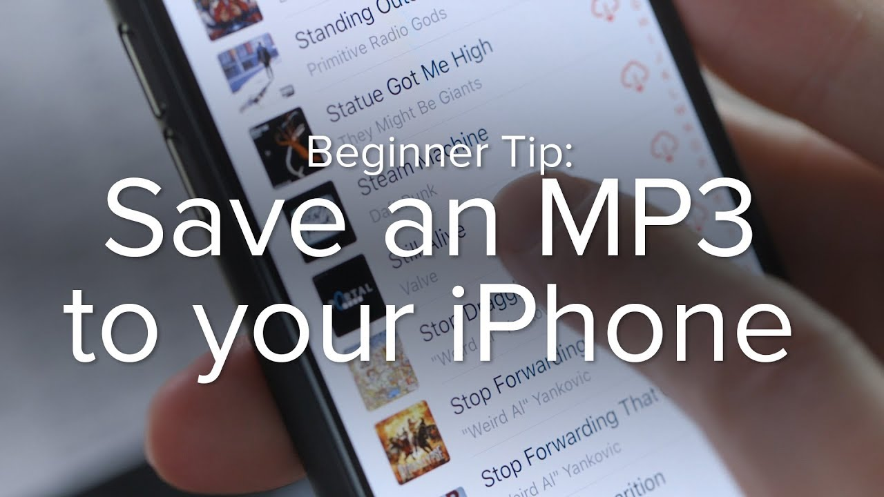 youtube to mp3 for iphone how to save an mp3 to your iphone 18272